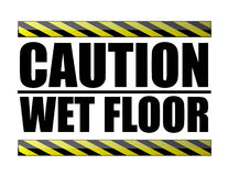 Caution wet floor. Vector file available Stock Photography