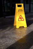 Caution Wet Floor Royalty Free Stock Photo