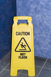 Caution Wet Floor Royalty Free Stock Photos