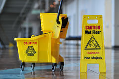 Free Caution Wet Floor Stock Image - 4759541