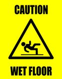 Caution wet floor. Standart warning Stock Photography