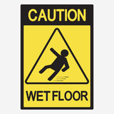 Caution wet floor. Beware of slippery - vector Royalty Free Stock Photo