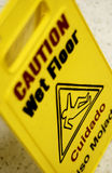 Caution wet floor sign Royalty Free Stock Image