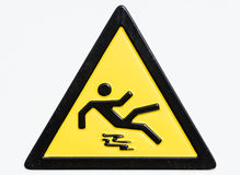 Caution wet floor sign. Warning sign at an entrance of a university in rome - not a Royalty Free Stock Photos