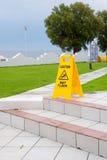 Caution wet floor sign Stock Photos