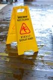 Caution wet floor sign. Caution wet floor yellow sign Stock Image