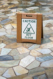Caution Wet Floot Stock Image