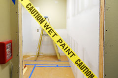 Caution Wet Paint Stock Images