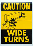 Caution Wide Turns Royalty Free Stock Photo