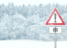 Caution - Winter Royalty Free Stock Photos