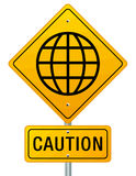 Caution World Royalty Free Stock Photo