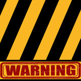 Caution, yellow black sign says about the danger royalty free stock photos