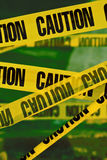 Caution yellow tape. Photo of the caution yellow tape Stock Photos