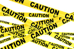 Caution Yellow Tape Strips Stock Images