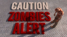 Caution zombies alert Stock Image
