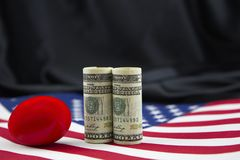 American policy has economic investment risks Stock Photography