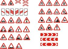 Cautionary road sign Royalty Free Stock Photo
