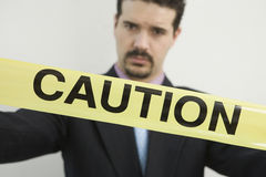 Cautious businessman Stock Image