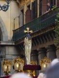 Cautivo do EL de Jesús, na procissão da Semana Santa no Madri, abril Imagem de Stock