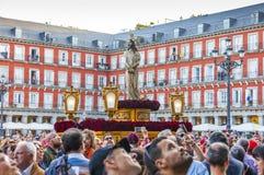 Cautivo EL Jesús, στην πομπή της ιερής εβδομάδας στη Μαδρίτη, απρίλιος Στοκ Εικόνα