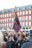Cautivo EL Jesús, στην πομπή της ιερής εβδομάδας στη Μαδρίτη, απρίλιος Στοκ εικόνες με δικαίωμα ελεύθερης χρήσης