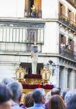 Cautivo EL Jesús, στην πομπή της ιερής εβδομάδας στη Μαδρίτη, στις 13 Απριλίου 2017 Στοκ εικόνες με δικαίωμα ελεύθερης χρήσης