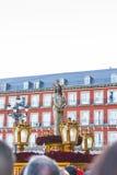 Cautivo Jesús el, в шествии святой недели в Мадриде, апрель Стоковое Изображение RF