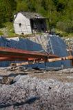 Cava abbandonata del granito Fotografia Stock Libera da Diritti