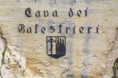 Cava av Balestrierien marino san marinorepublik san Royaltyfri Fotografi