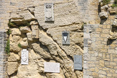 Cava dei Balestrieri - quarry crossbowmen in San Marino. Royalty Free Stock Photography
