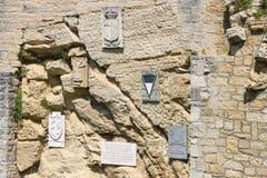 Cava dei Balestrieri - quarry crossbowmen in San Marino. Royalty Free Stock Photography