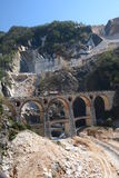 Cava del marmo di Fantiscritti Alpi di Apuan Provincia di Carrara e di Massa tuscany L'Italia Fotografia Stock Libera da Diritti