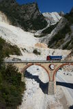 Cava del marmo di Fantiscritti Alpi di Apuan Provincia di Carrara e di Massa tuscany L'Italia Fotografie Stock