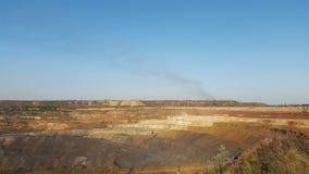 Cava del minerale metallifero Fotografie Stock
