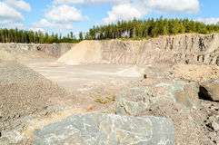 Cava della ghiaia e della pietra Fotografia Stock Libera da Diritti