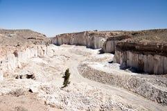 Cava della pietra di Sillar, Perù Fotografia Stock