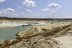 Cava della sabbia della silice Immagine Stock