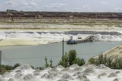 Cava della sabbia della silice Fotografia Stock Libera da Diritti