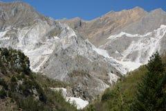 Cava di marmo Alpi di Apuan Provincia di Carrara e di Massa tuscany L'Italia Fotografie Stock Libere da Diritti