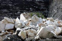 Cava di marmo bianco, Romania Fotografia Stock