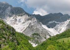 Cava di marmo, Carrara Italia Immagini Stock