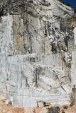 Cava di marmo Colonnata Alpi di Apuan Provincia di Carrara e di Massa tuscany L'Italia Immagini Stock