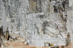 Cava di marmo Colonnata Alpi di Apuan Provincia di Carrara e di Massa tuscany L'Italia Fotografia Stock