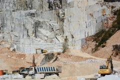 Cava di marmo Colonnata Alpi di Apuan Provincia di Carrara e di Massa tuscany L'Italia Immagine Stock Libera da Diritti