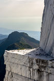 Cava di marmo e del montagna Fotografie Stock Libere da Diritti