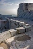 Cava di marmo e del montagna Immagini Stock