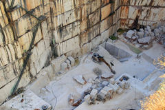 Cava di marmo vicino a Estremoz, Portogallo Fotografie Stock Libere da Diritti