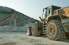 Cava e bulldozer Fotografia Stock Libera da Diritti