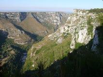 Cava Grande di Cassibile. Canyon Grande - river Cassibile, Sicily, Italy Stock Photos
