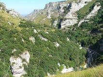 Cava Grande di Cassibile. Canyon Grande - river Cassibile, Sicily, Italy Stock Photography